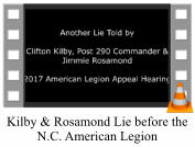 Kilby & Rosamond Lie before the N.C. American Legion
